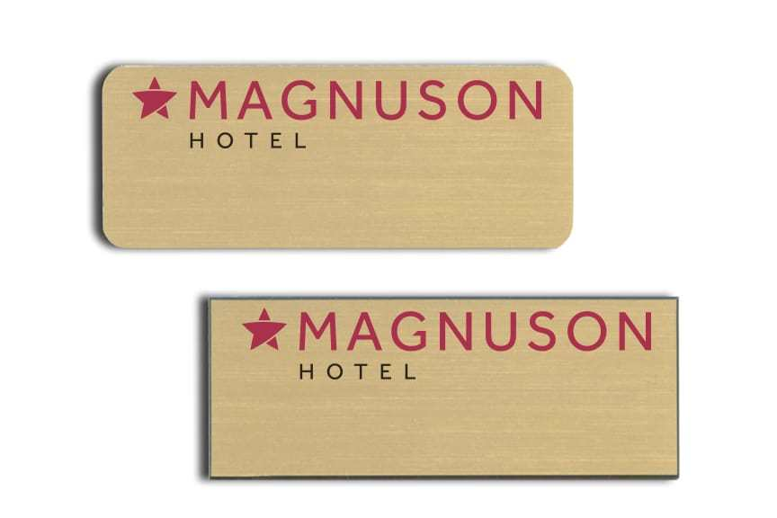 Magnuson Hotel Name Badges