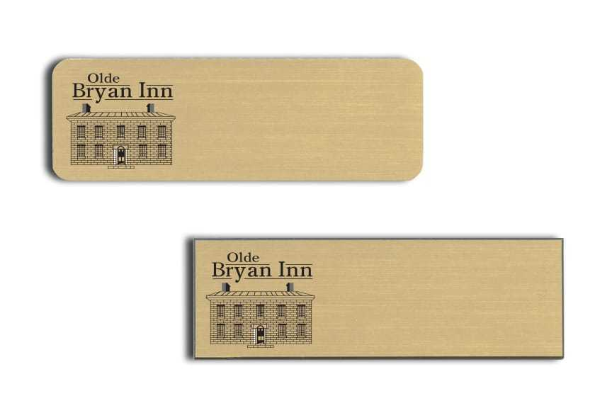Olde Bryan Inn name badges