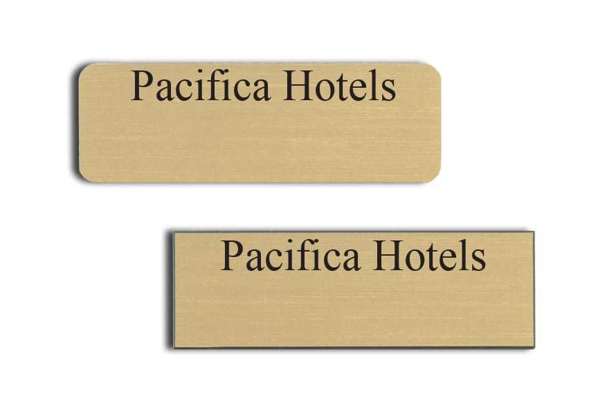 Pacifica Hotels Name Badges