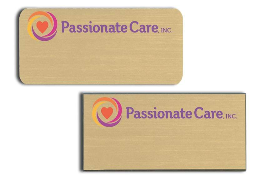 Passionate Care name badges