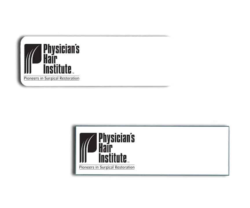 Physician's Hair Institute name badges