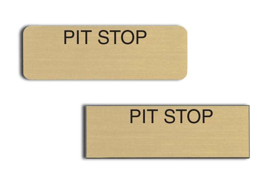 Pit Stop name badges
