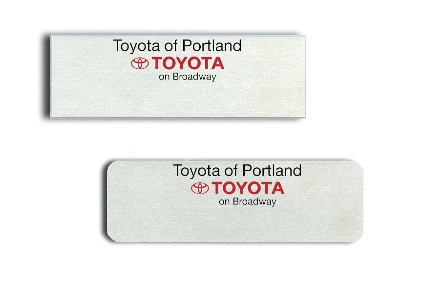 Toyota of Portland Name Badges