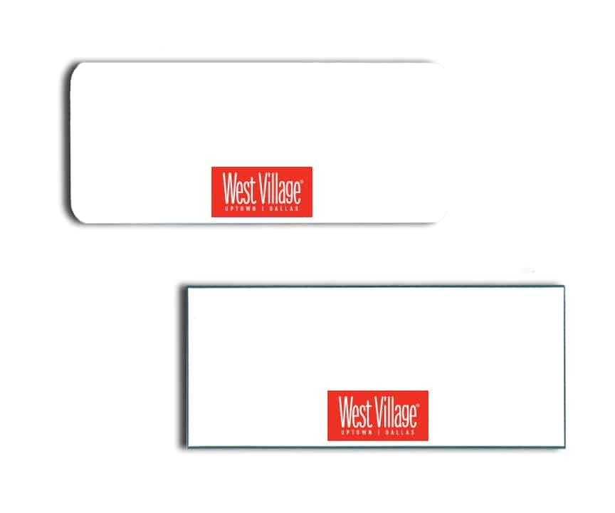West Village Name Badges