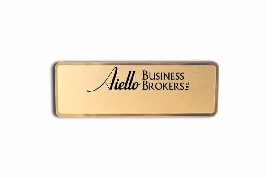 Aiello Business Brokers Name Badges