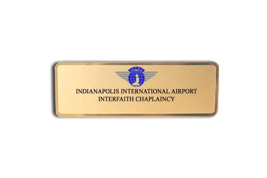 Indianapolis Airport Chaplaincy Name Badges