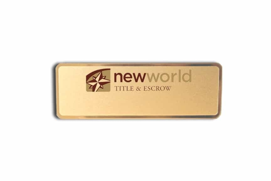 New World Title & Escrow Name Badges