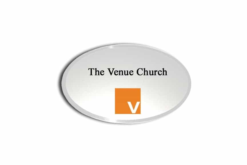 The Venue Church Name Badges