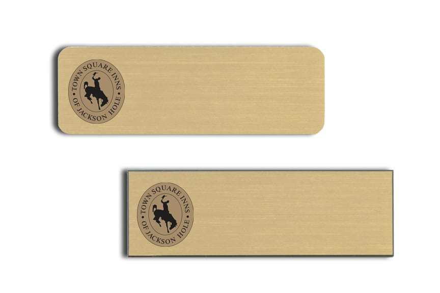 Town Square of Jackson Hole Name Badges