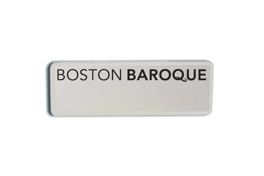 Boston Baroque Name Badges