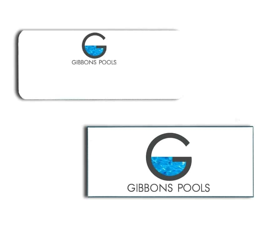 Gibbons Pools Name Badges