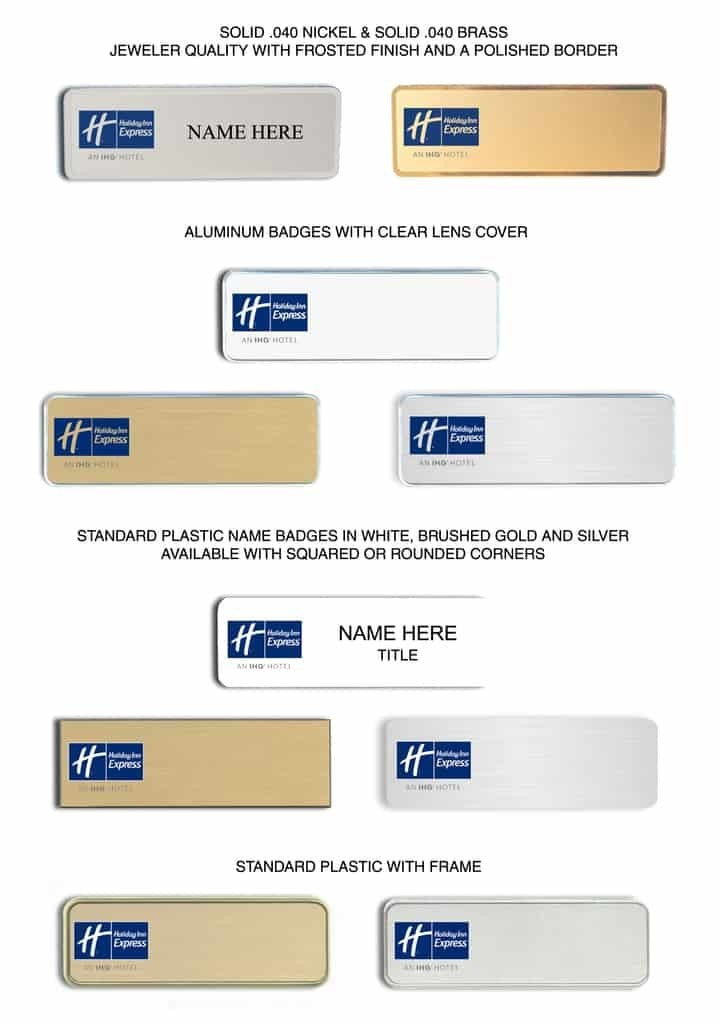 HOLIDAY INN EXPRESS Name Badges