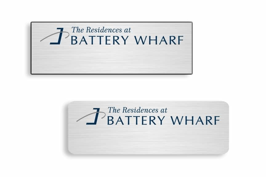 Residences at Battery Wharf Name Badges
