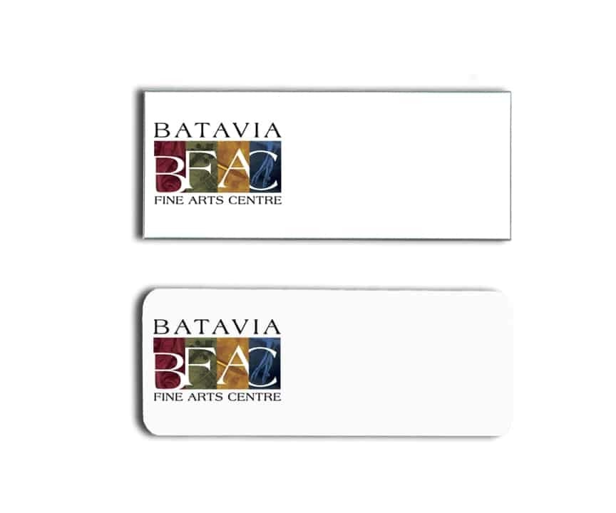 Batavia Fine Arts Centre Name Badges