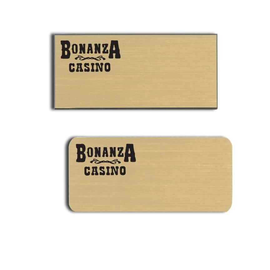 Bonanza Casino name badges