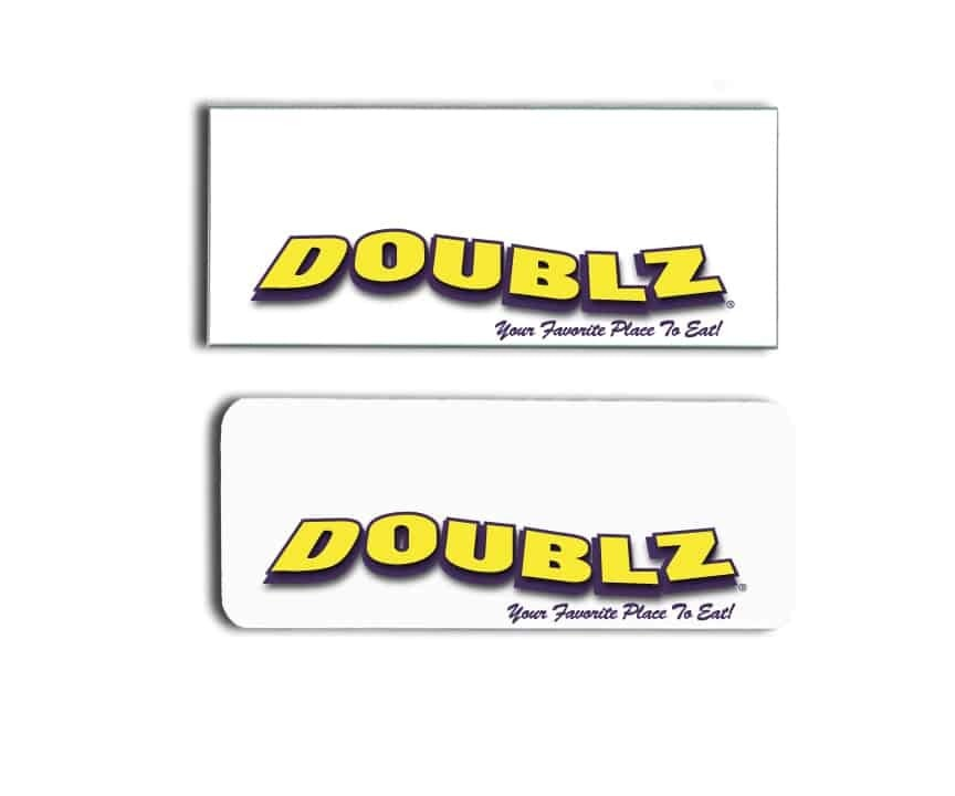 Doublez name badges