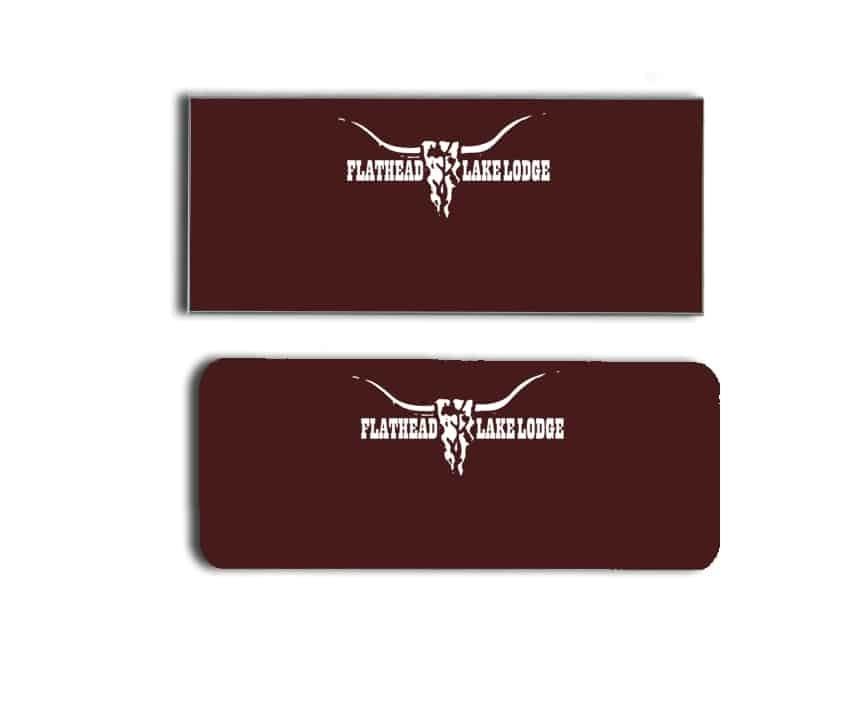 Flathead Lake Lodge name badges
