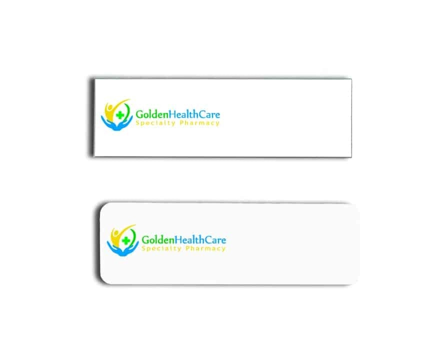 Golden Health Care Name Badges
