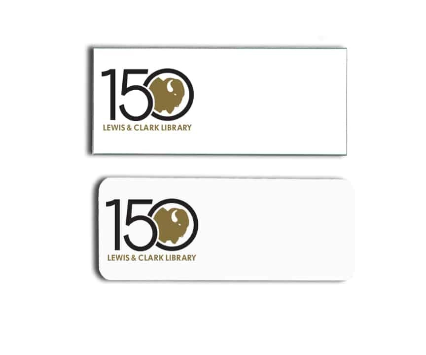 Lewis and Clark Library name badges