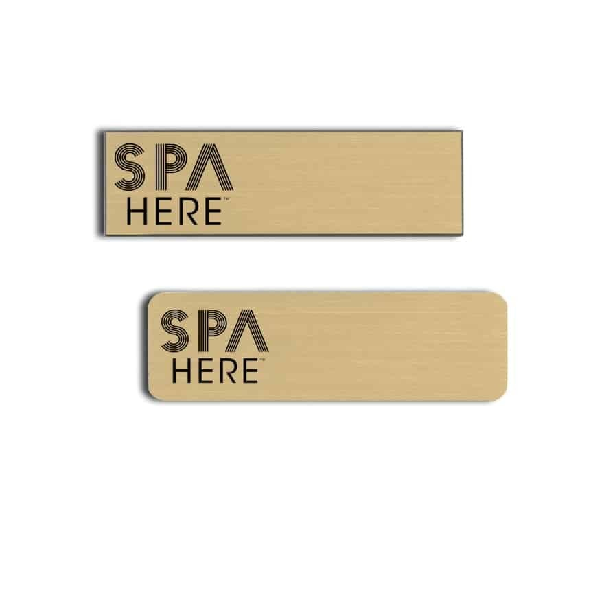 Spa Here Name Badges