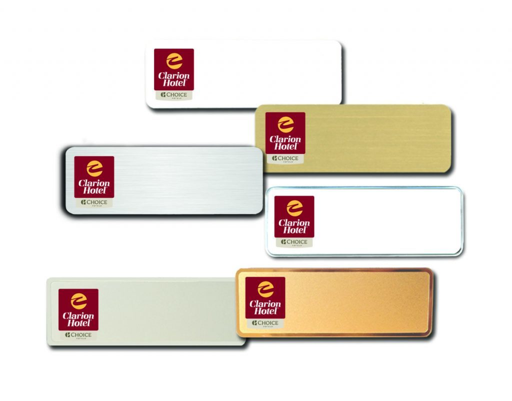 Clarion Hotel name badges