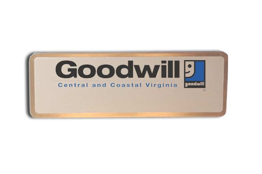 Goodwill Virginia name badges