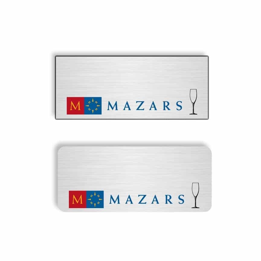 Mazars name badges