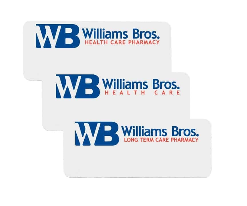 Williams Brothers name badges