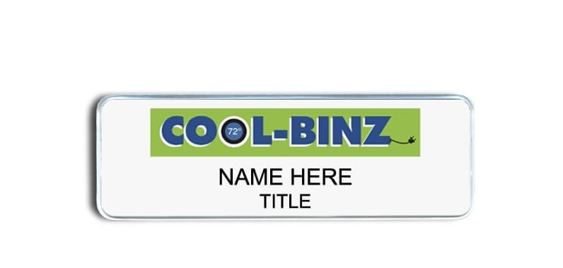 Cool Binz name badges