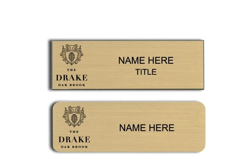 The Drake Oak Brook name badges