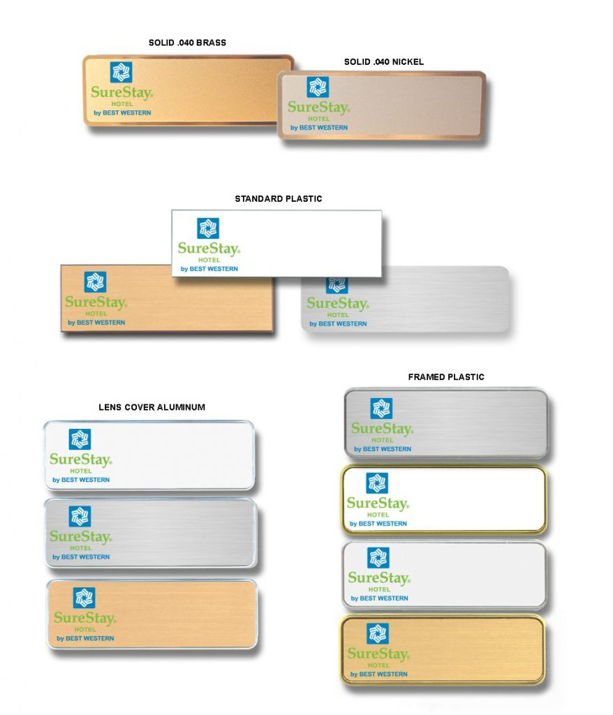 SureStay Name badges tags
