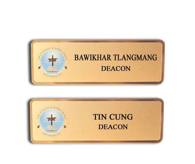 Baptist Church name badges tags
