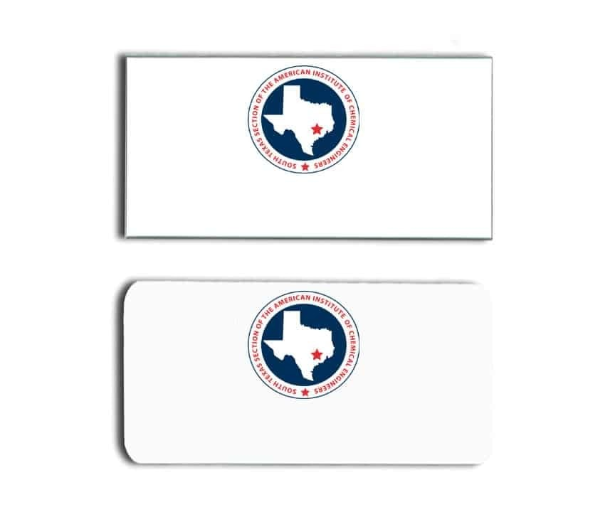 South Texas AICE name badges tags