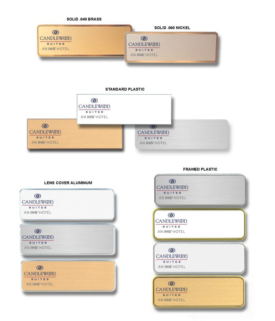 Candlewood suites name badges