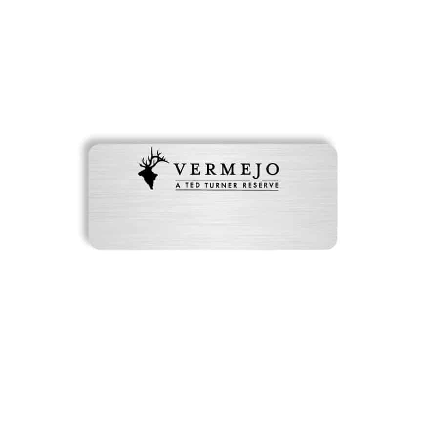 Vermejo name badges tags