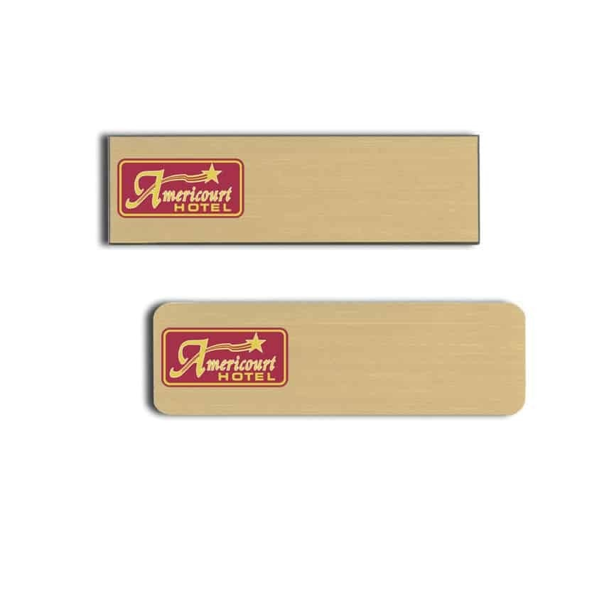 americourt hotel name badges tags