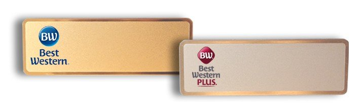 best western plus name tags badges